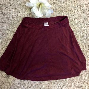 Dresses & Skirts - Burgundy velvet shirt
